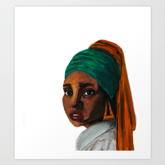 """""""Girl with the Doorknockers"""" print  starting from $18.99"""