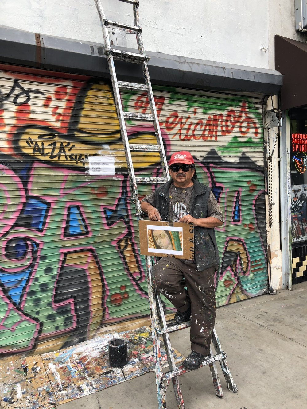 meet the muralist who fled el salvador to paint walls in los angeles