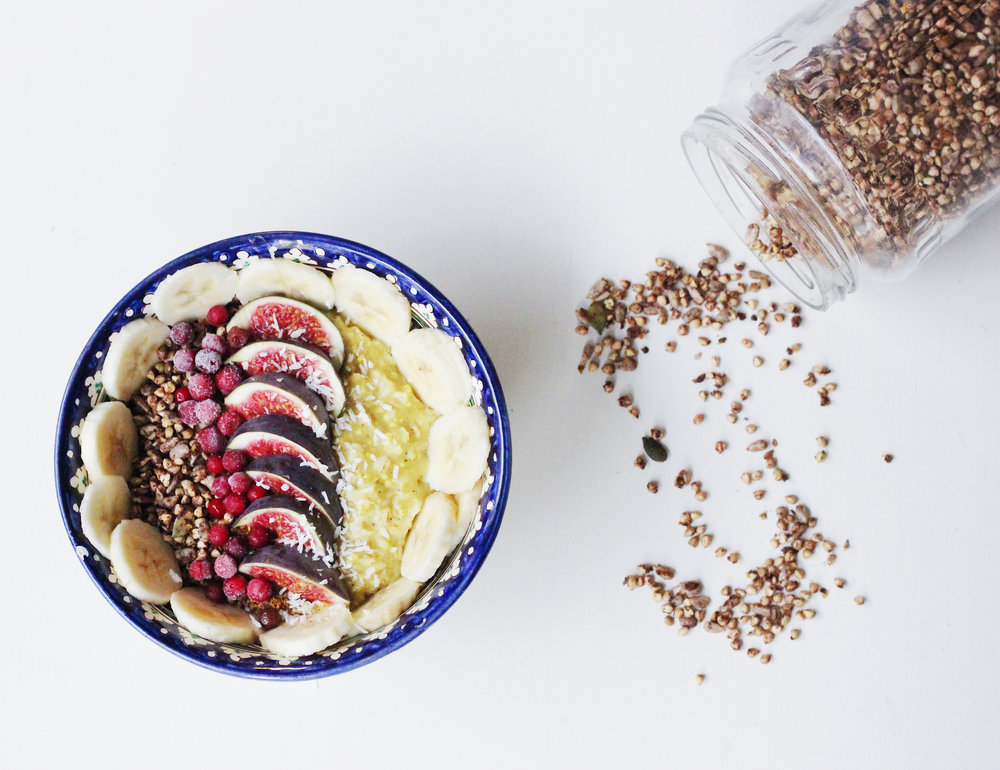 Breakfats bowl and cinnamon granola recipe