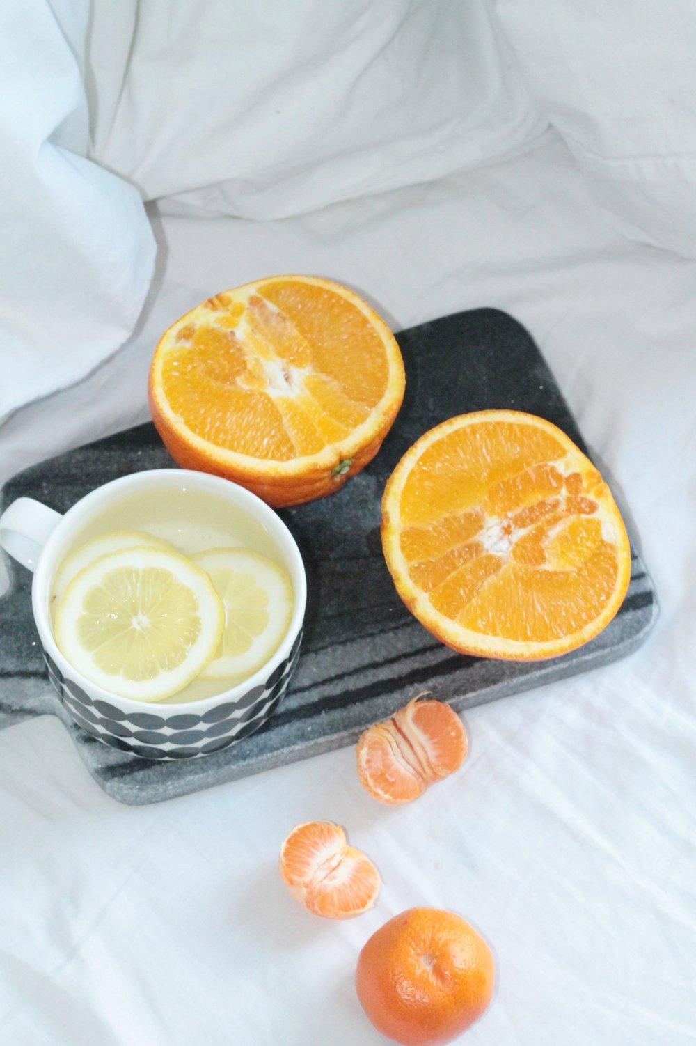 Oranges and Lemon water