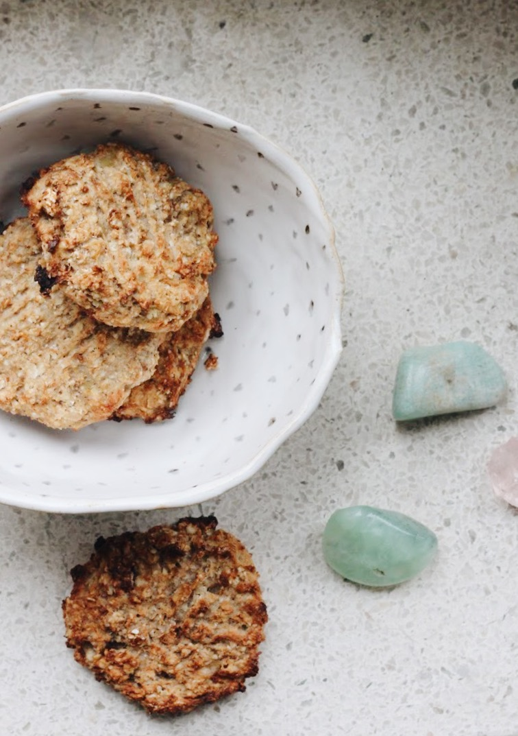 Healthy vegan banana and buckwheat cookies