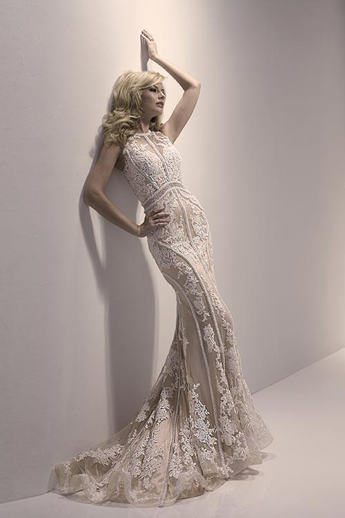 40% off sample gown- Now $612.00 - Was $1020.00Size- 10IvoryDesigner- Jaquelin ExclusiveStyle# 110195