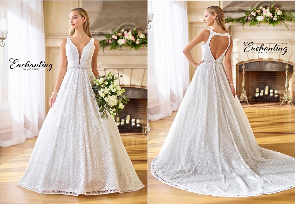 Enchanting by Mon Cheri Bridal Trunk show!  - These dresses are EXCLUSIVE to LA Collection and we are the only store in Manitoba that can carry this exclusive line.Starting July 20th - July 28thCome and check out our Bridal Trunk Show and fall in love with Mon Cheri Enchanting Wedding Gowns.