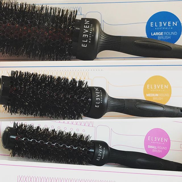 ✨Salon Beni now retails Eleven Australia round brushes!! ✨ These brushes are the most amazing brushes! They give the hair plenty of volume, shine, and glide through the hair with ease! Pick up one today!