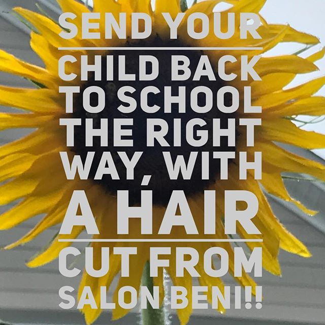 Yet again another summer flew by 😥Before your child starts school again don't forget to book their back to school hair cut! 📚 ✏️ 📓