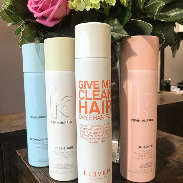 September means back to work, back to school, back to blowing out your hair.. get some extra time out of a blow out by trying one of our many amazing styling & dry shampoo products! #KevinMurphy #Eleven