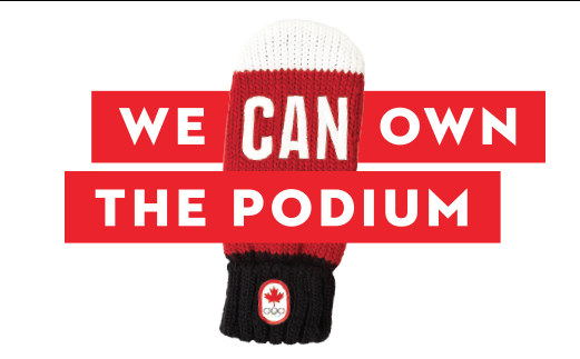The top side of the mittens have CAN on them for Canada, and for our effort. Yes we CAN!