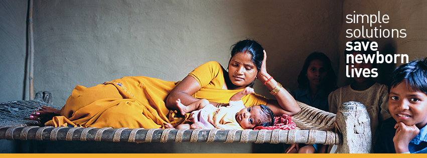 """Image from Melinda Gates facebook page, """"Every year, more than one million newborns die on their first day of life. The good news is these newborn lives can be saved with simple and relatively inexpensive interventions."""""""
