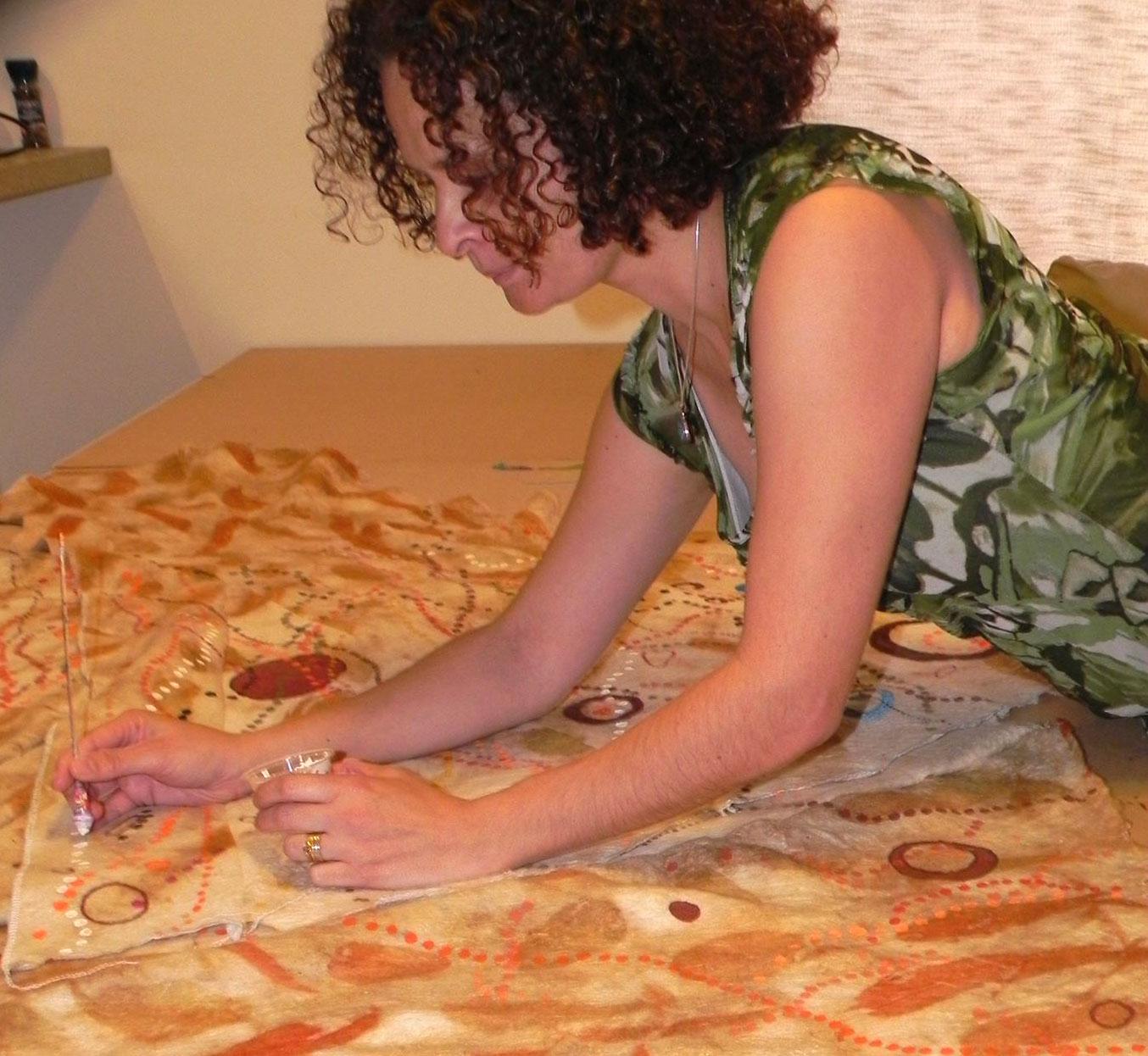 Deborah Bonar, (Aboriginal Heritage Gija and Yamatji ) Western Australian artist.