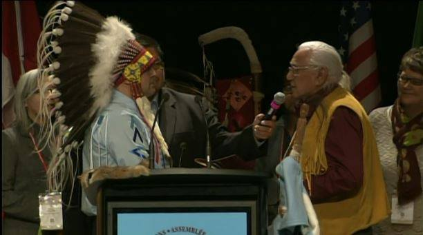 Bellegarde taking the oath as the new AFN National Chief