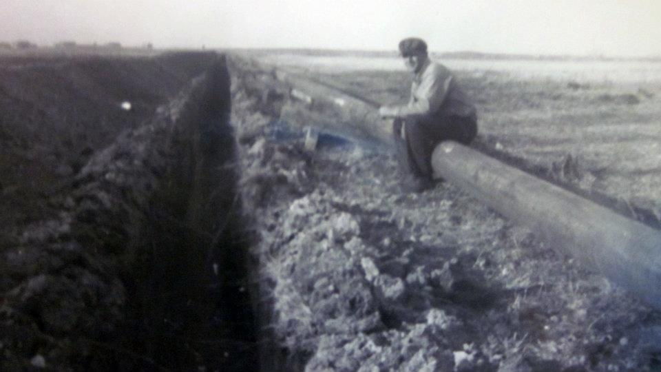 Pipeline in the 1950s, Manitoba, Canada (Photo from the Whachell family album)