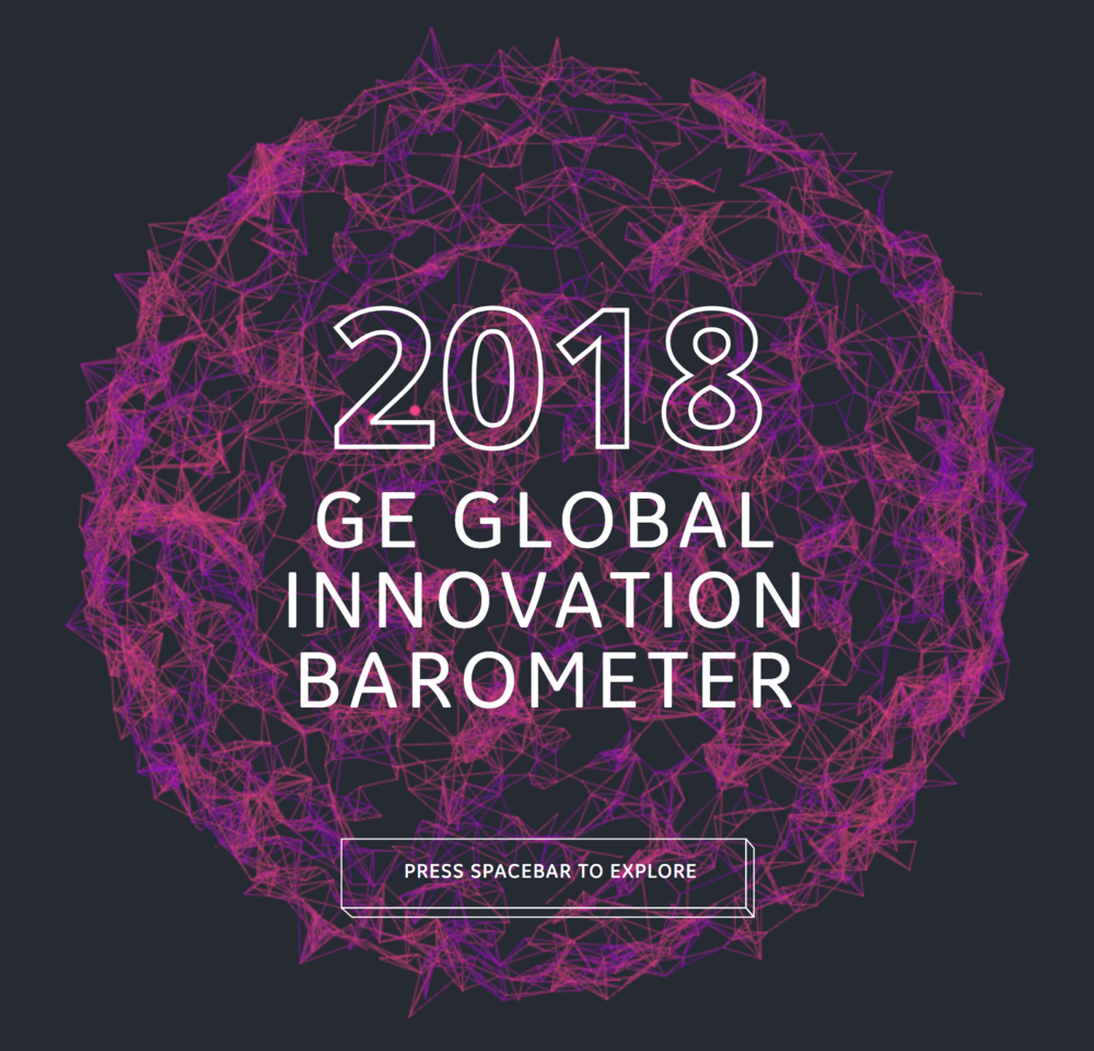 Interesting reading, By: Edelman Intelligence    GE Global Innovation Barometer 2018, full report    Introduction to the GE Global Innovation Barometer (GIB), Methodology, Key findings and Deep dive on the findings.