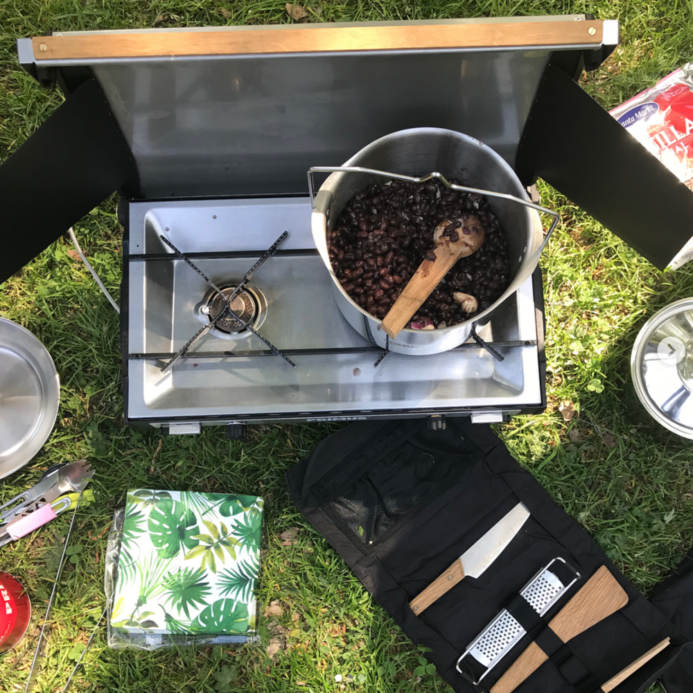 May 31, 2018.  Eco Design Sprint   THEM being served lunch during Eco Design Sprint by outdoor company PRIMUS while exploring the next level of sustainable adventures.