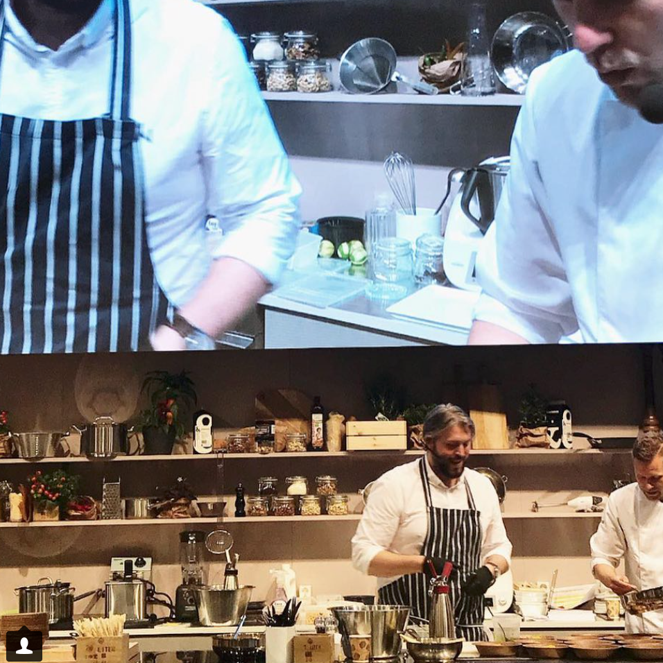 April 24, 2018.  Sustainability and cooking   Johan Gottberg in practice at Martin Cervera with circular food expertise.
