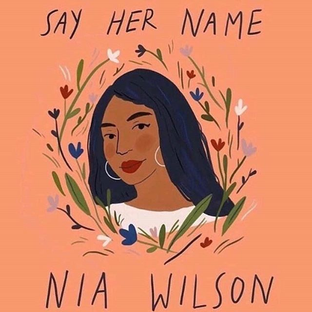 #Repost @dopequeenpheebs • • • • • And over and over and over and over until her name, life, and legacy is on every single news outlet and the person who murdered her (I refuse to write his name) is properly brought to justice. Here are some things we can do on our end:  Justice for Nia Wilson GoFundMe page is to help her family as they deal with this tragedy the best anyone could in this impossible situation.  @blklivesmatter is always accepting donations as well as looking for people to get involved on the ground.  INCITE! Women, Gender Non-Conforming, and Trans people of Color Against Violence is pretty self explanatory, I think, and they have a chapter in the Bay Area where she was slain.  Art: @sarahgreenstudio