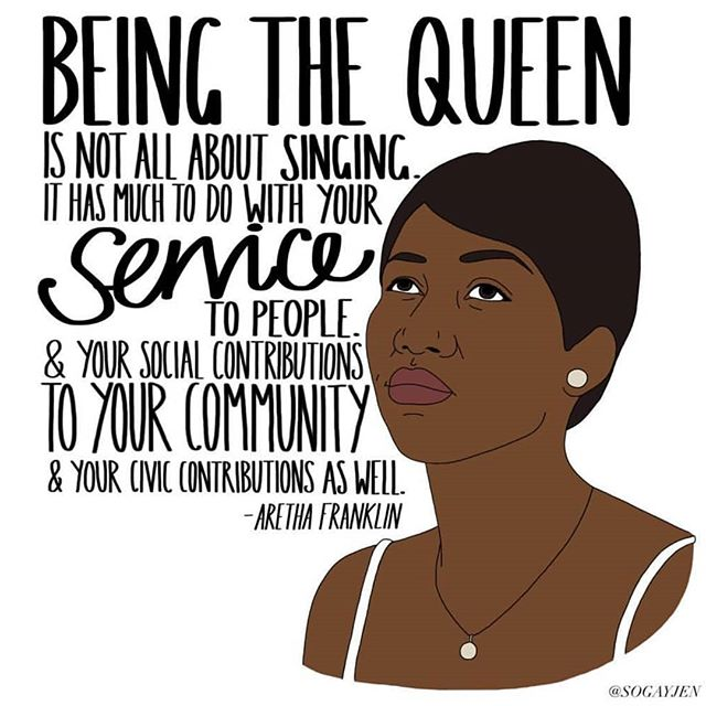 Lost a true icon today. Rest in power Aretha. 🌹 Art by @sogayjen