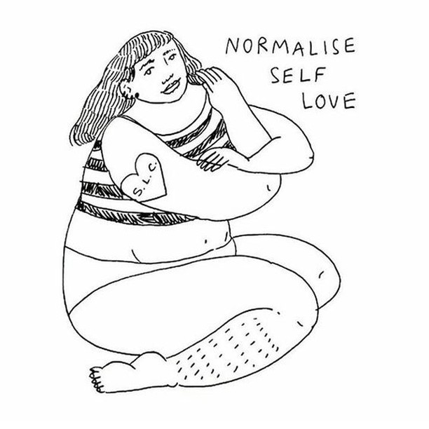 Normalize self love!! Art by @frances_cannon 🌹 Pre-orders are shipping this week! Issue one addresses what it means to belong, and everything it takes to navigate life at the intersection of oppressions. Order now: bit.ly/PreOrderDesertRose 🌹 #fem2 #feminism #feminist #feministbadass #intersectionalfeminism #feministaf #intersectionalfeminist #litmag #literature  #amreading #books #bookstagram #amwriting #writer #creative #magazine #liberal #intersectionality #empowerment #equality #nastywoman #yesallwomen #burnthepatriarchy #wokeAF #futureisfemale #creativewriting
