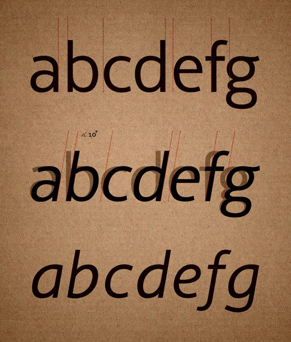 building italic version