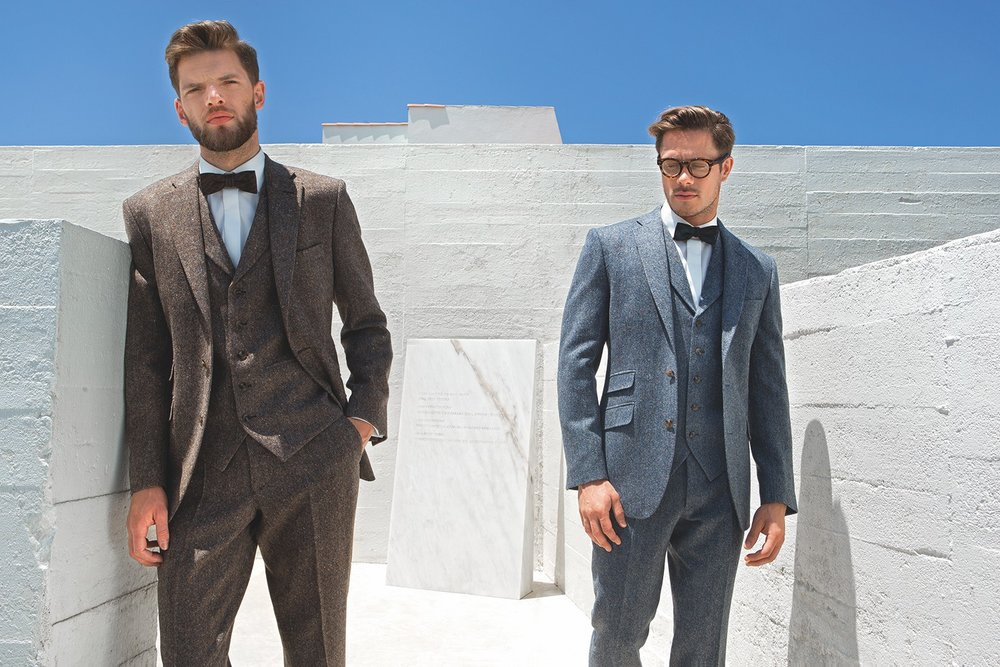 Great looking tweed suits 3 pieces from £399