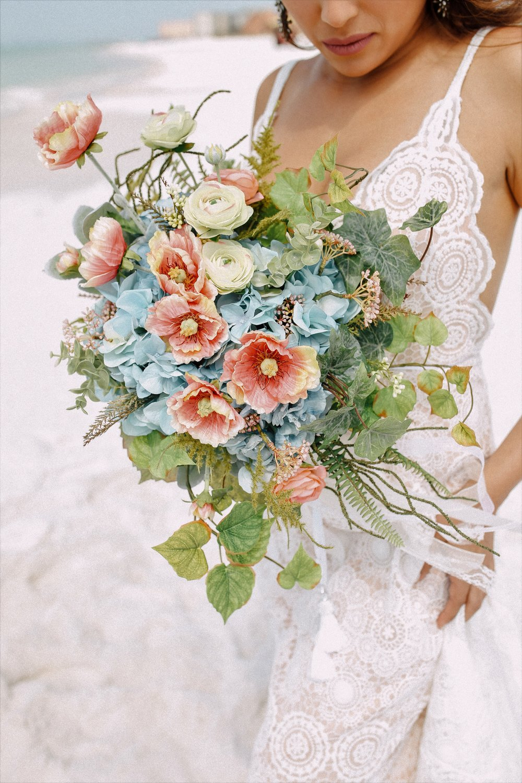Beach Wedding Lavender Blue Floral Artistry