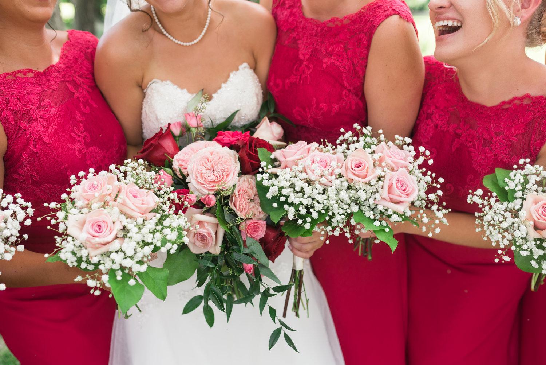 Des Moines florists pink wedding flowers summer wedding bouquets