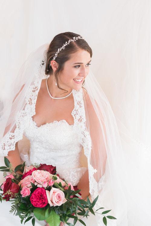 gorgeous big flower bouquet wedding day bride real weddings