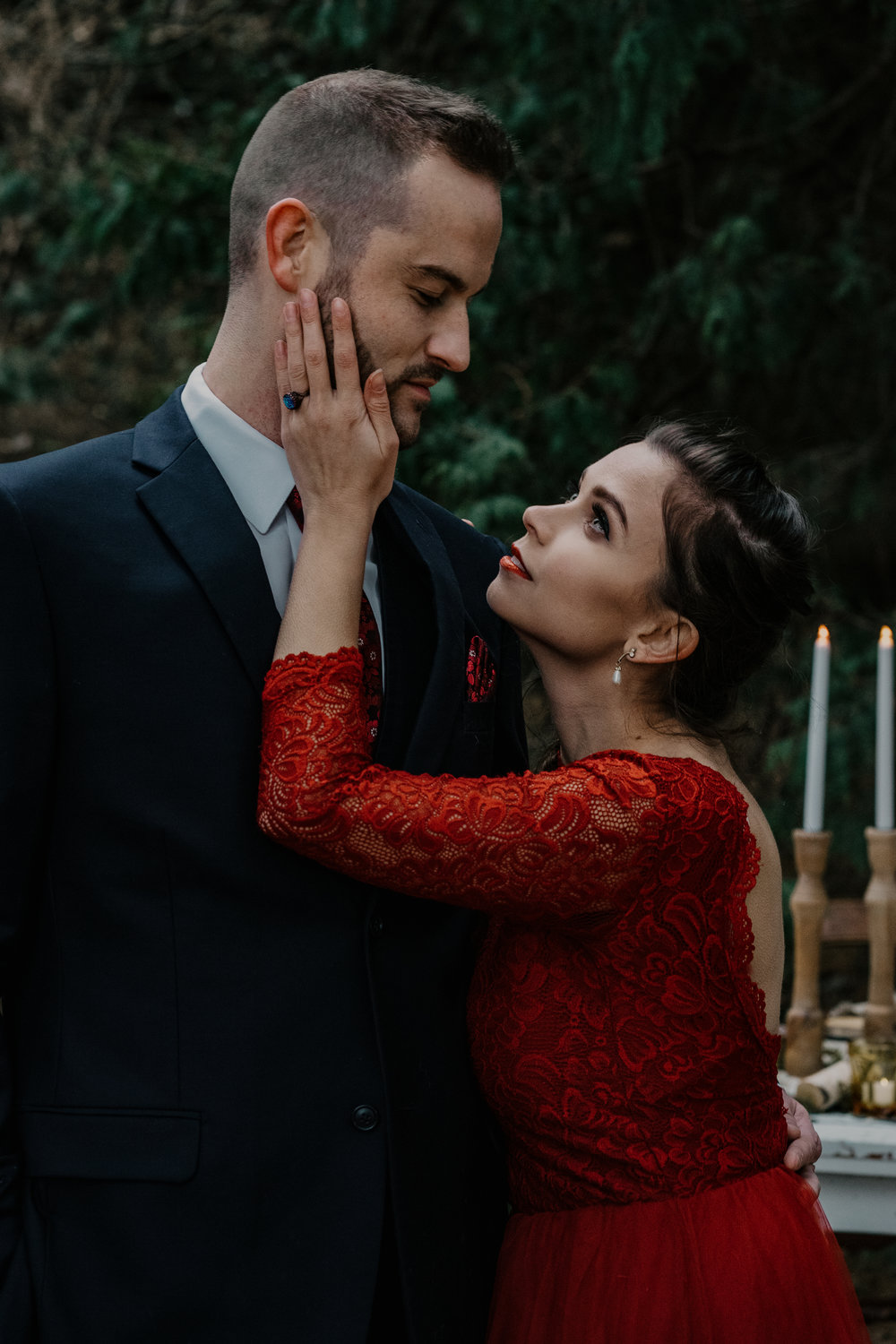 red_ wedding_dress_fairytale_wedding_styled_photo_shoot