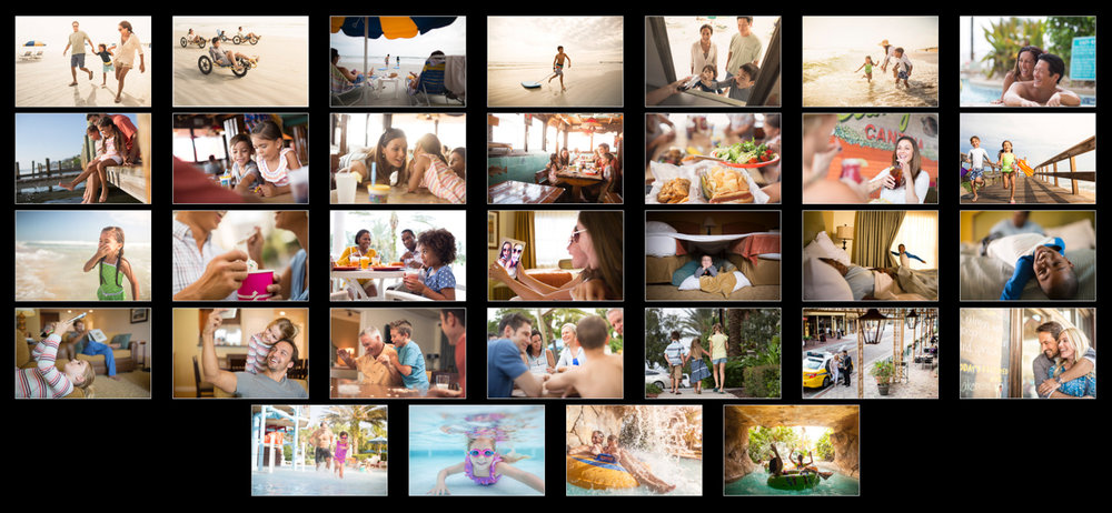 A view of the project edit for Wyndham Resorts, focusing on the strong narrative element in Craig's work,followed by one of my favorite images from this series below: