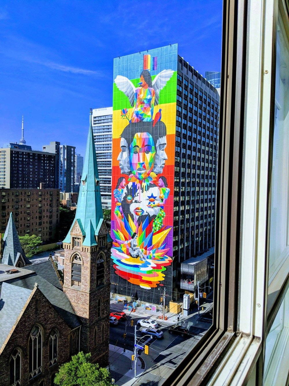 - Equilibrium MuralStephanie Bellefleur worked as an Art Administrator / Painter under award winning public art organization, Steps Initiative. This 23 story Mural is located at 111 Carlton, Parkside Student Residence.