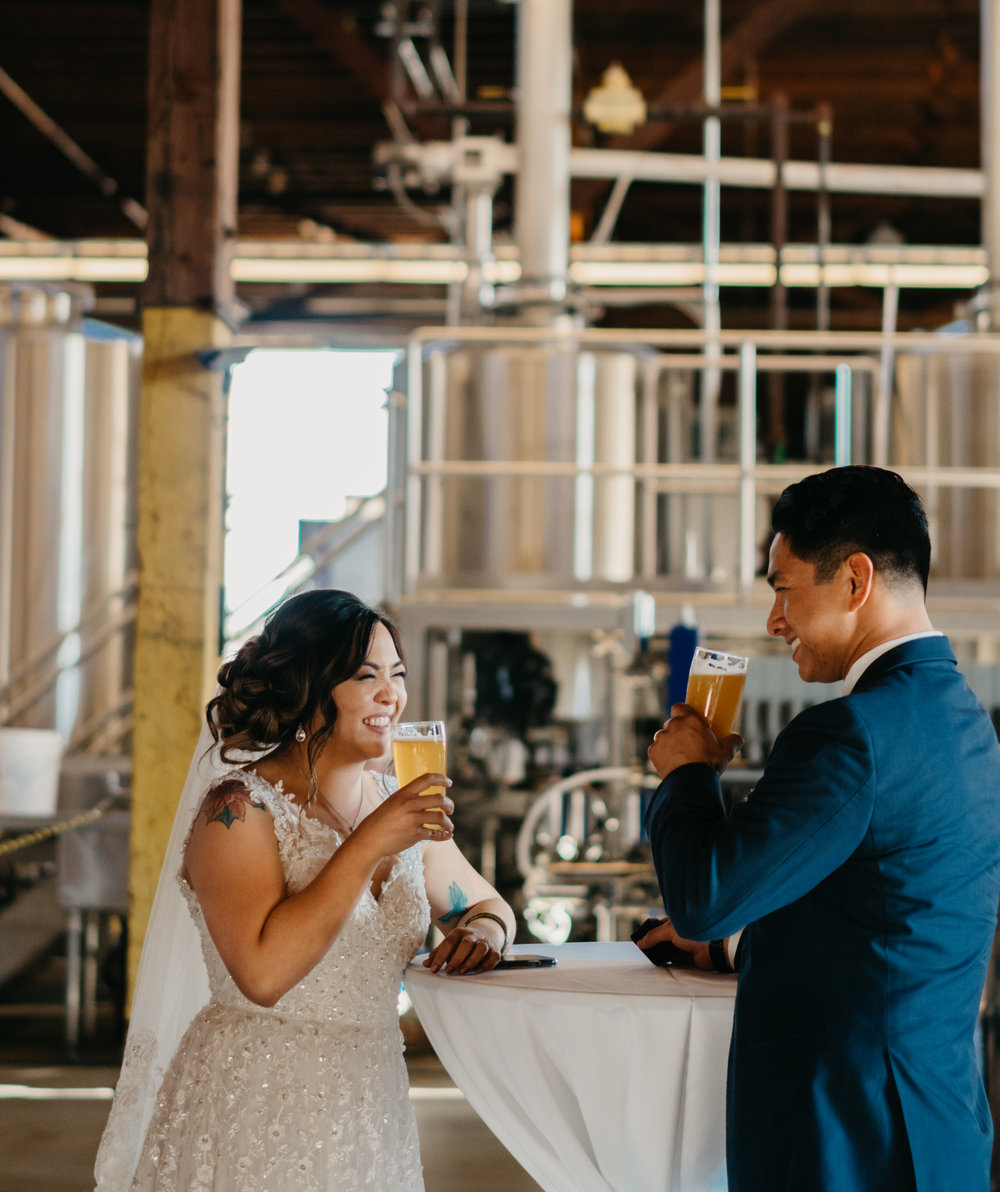 Southern California (SoCal) - Los Angeles Modern Brewery Wedding