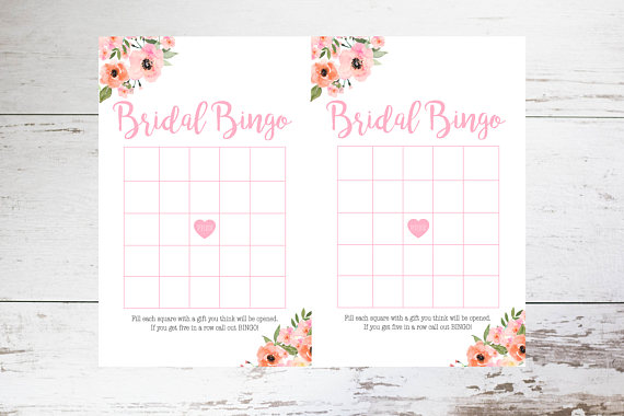 graphic about Bridal Bingo Printable named Bridal Bingo Printable // Bridal Shower Recreation