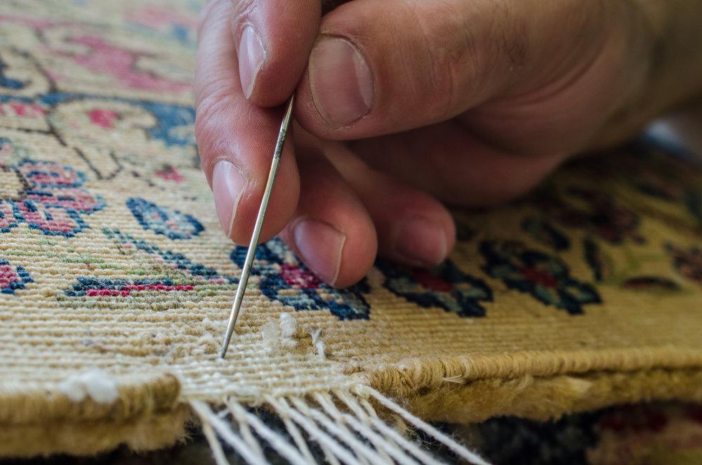 Repairing Oriental Rug