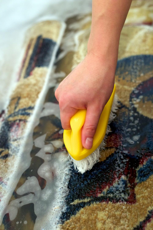 Hand Washing Oriental Rug