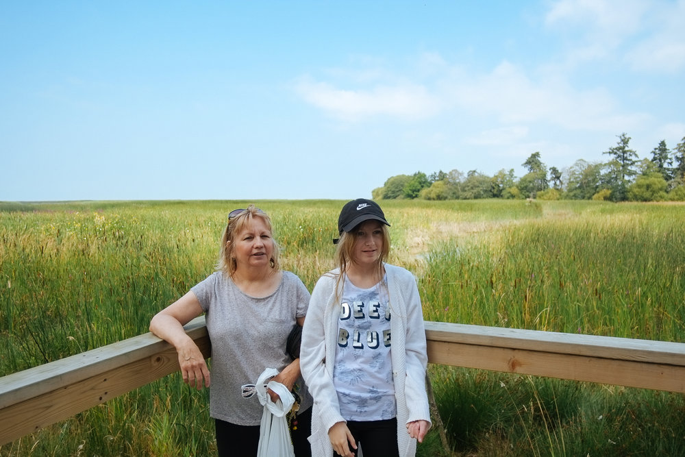 George C. Reifel Migratory Bird Sanctuary (Part II) - 2018-08-17: A little visit from mum and Hailey for my birthday week. A good walk through the bird sanctuary on a hot, blue skyed, August day.
