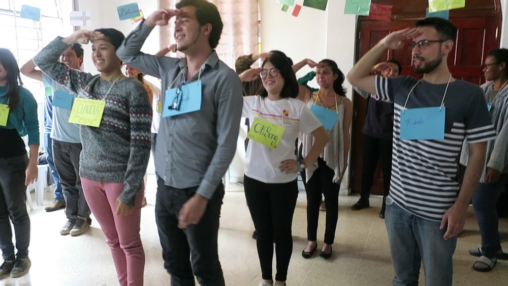 "We began our American Culture Event with introducing ourselves and playing ""Barcos y Marineros"", or in English, ""Ships and Sailors""! It was a great way to lighten up the environment, and everyone enjoyed playing the game!"