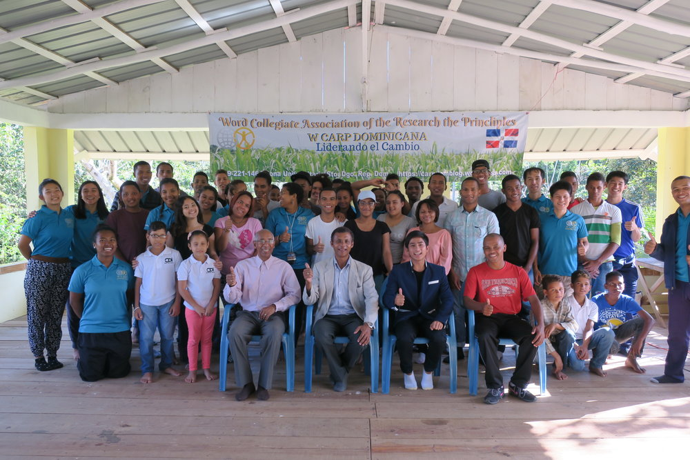 All the staff, leaders, and participants on the first day on the workshop after arriving to La Finca.