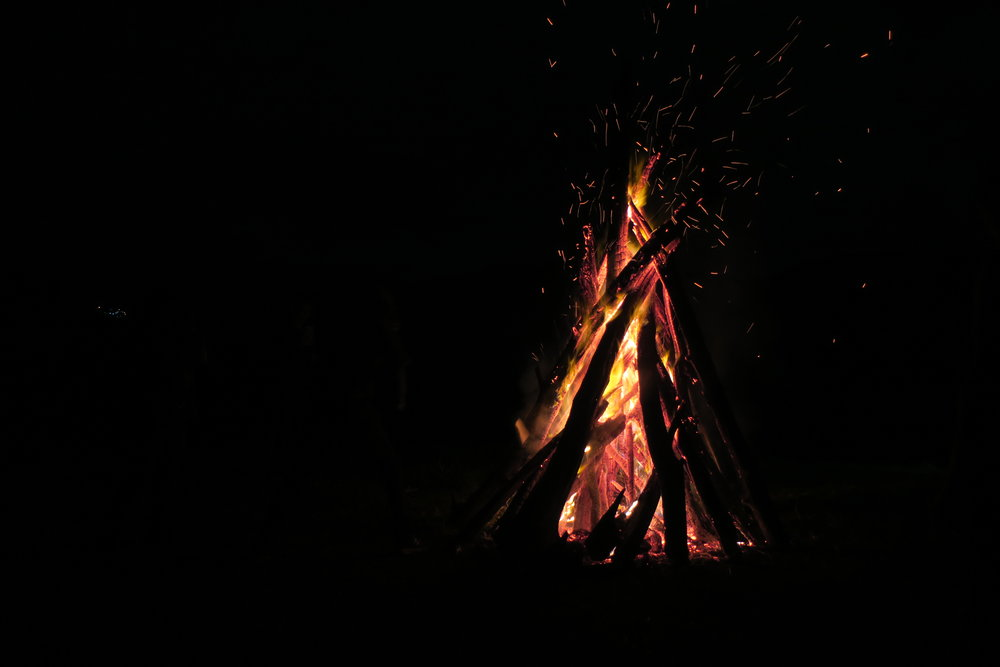 We gathered around a huge bonfire on the last night, sharing experiences and offering a group prayer to conclude the workshop.