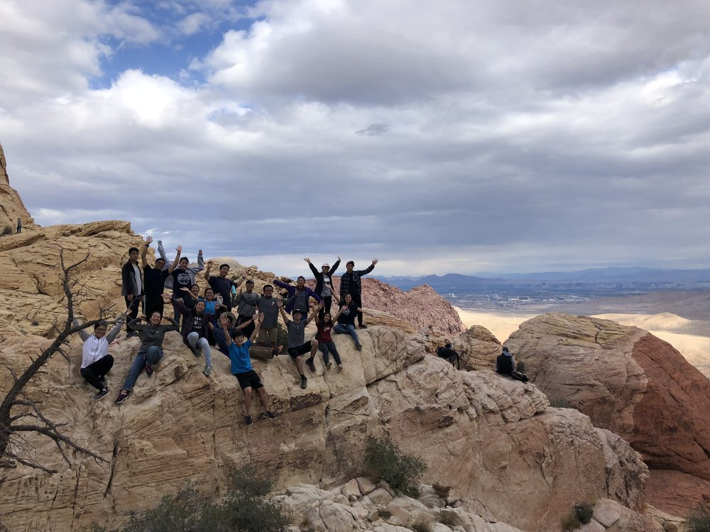 The American Cheon Il Guk Missionaries went to Red Rock Canyons after attending Sunday Service.