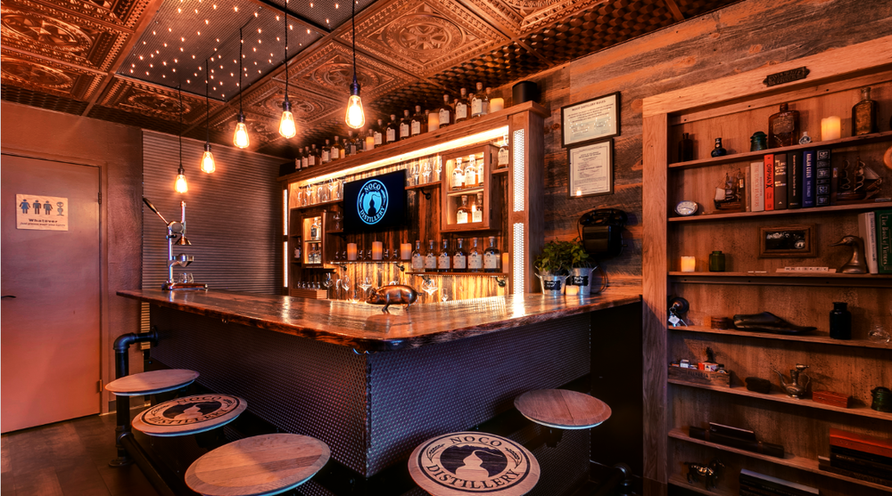 NOCO Distillery's Speakeasy & Tasting Room. Come enjoy a unique speakeasy style experience with amazing cocktails.