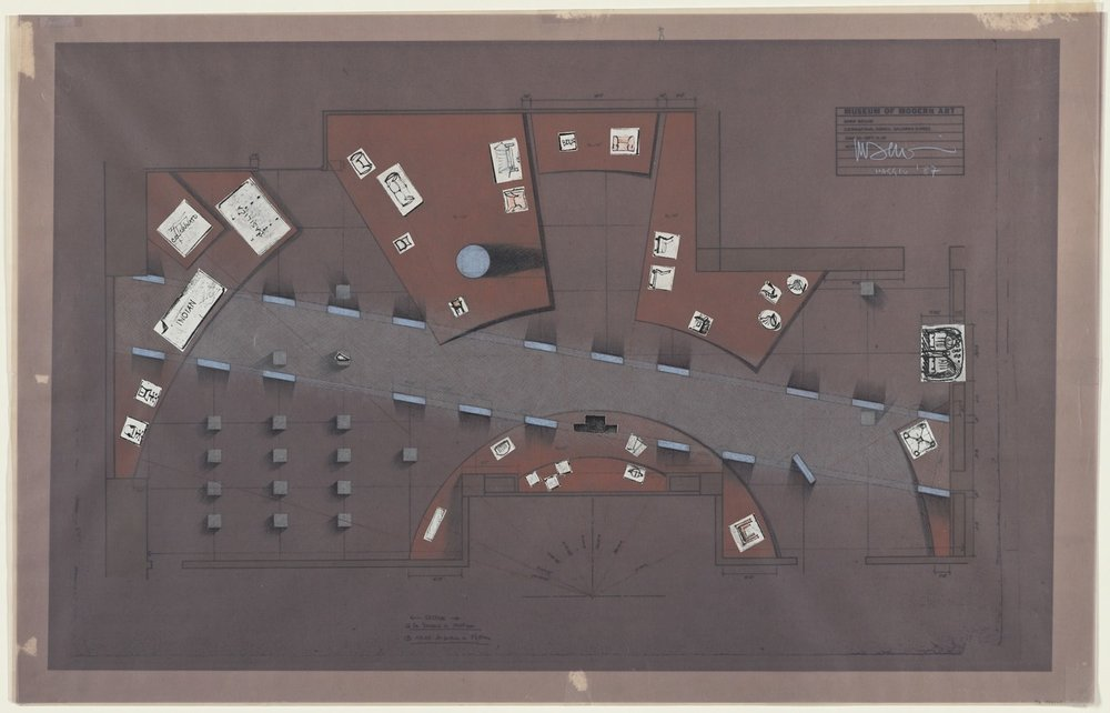 "Exhibition ""Mario Bellini: Designer."", The Museum of Modern Art, New York, 1987, Installation plan 1987"