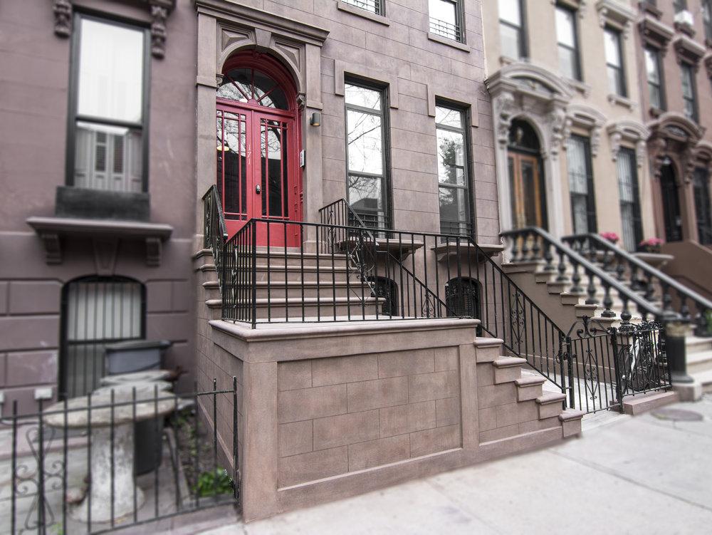171 Adelphi Street Stoop and Red Door.jpg