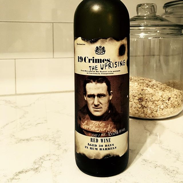 We're celebrating #12daysofwine with a series of wines worthy of any holiday! Despite its austere exterior, our seventh, rum-infused blend, @19crimeswine Uprising, is like a welcoming jam-flavored hug from an old friend. #siptothat 