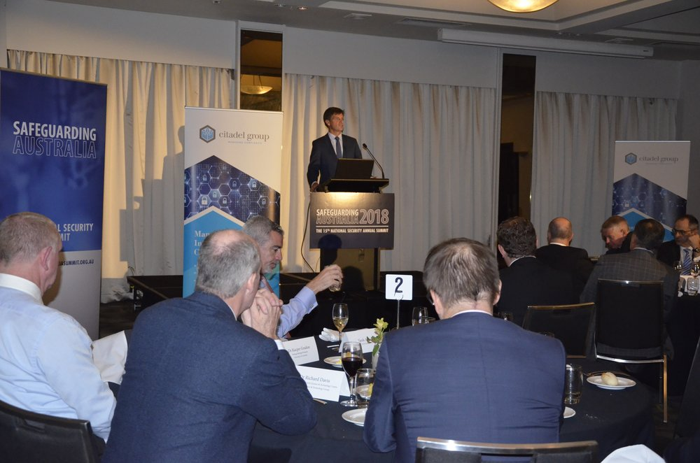 Safeguarding Australia 2018 Dinner Keynote Address by the Minister for Law Enforcement and Cyber Security, The Hon Angus Taylor MP