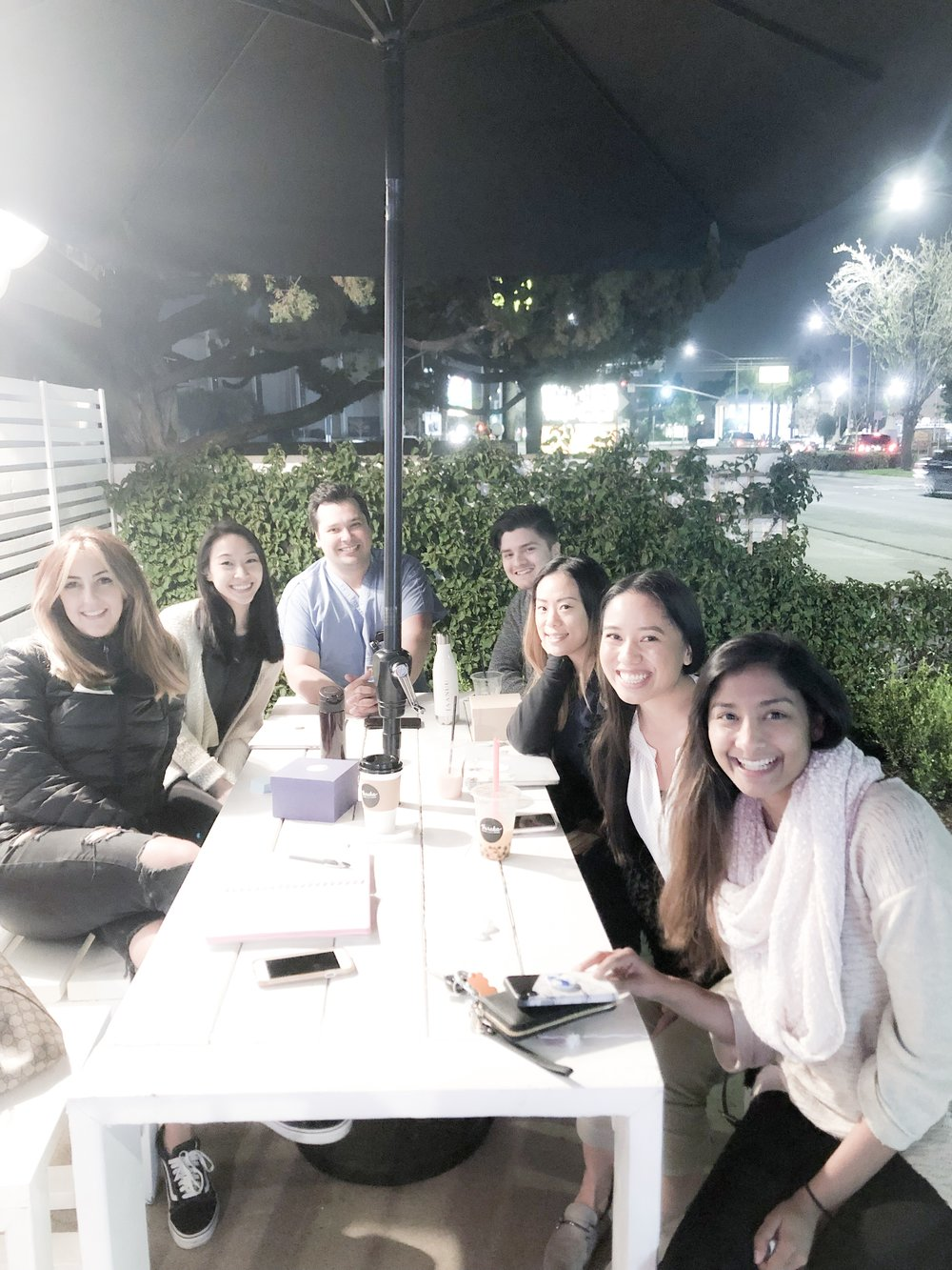 """January 2019 Meet-Up was a success! These lovely humans drove from Beverly Hills, Fontana, Monterey Park and Ontario 😱 like, omg.. you guys are amazing! We had pre-PAs, PA students and a PA-C last night. We shared experiences, advice, tips and so much more. I even got job application and interview tips from the amazing Ortho PA Josh :) Attendees got a special email from me with an """"Applying to PA school Checklist"""" attached 🤗 Thank you for all your support~ See you guys at the next meet-up!"""