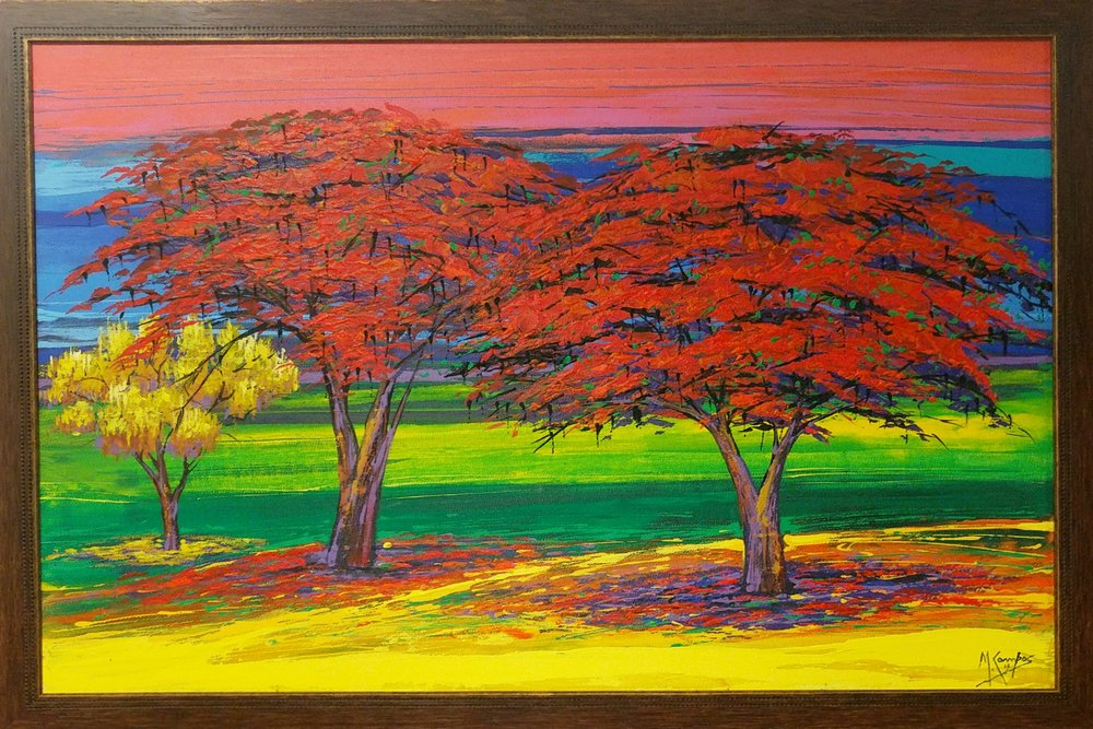 Daniel's Reminder of Good Times:   We bought this painting while traveling in Nicaragua. When I look at it, I relive good times traveling and it reminds me that there are many more places and things to explore and discover.