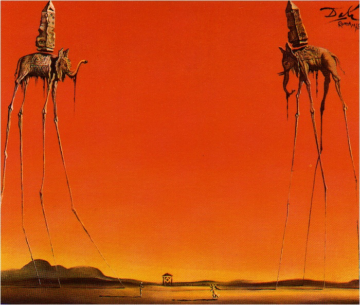 Rik's Favorite Things:    This picture combines two of my favorite things - Dali and elephants.