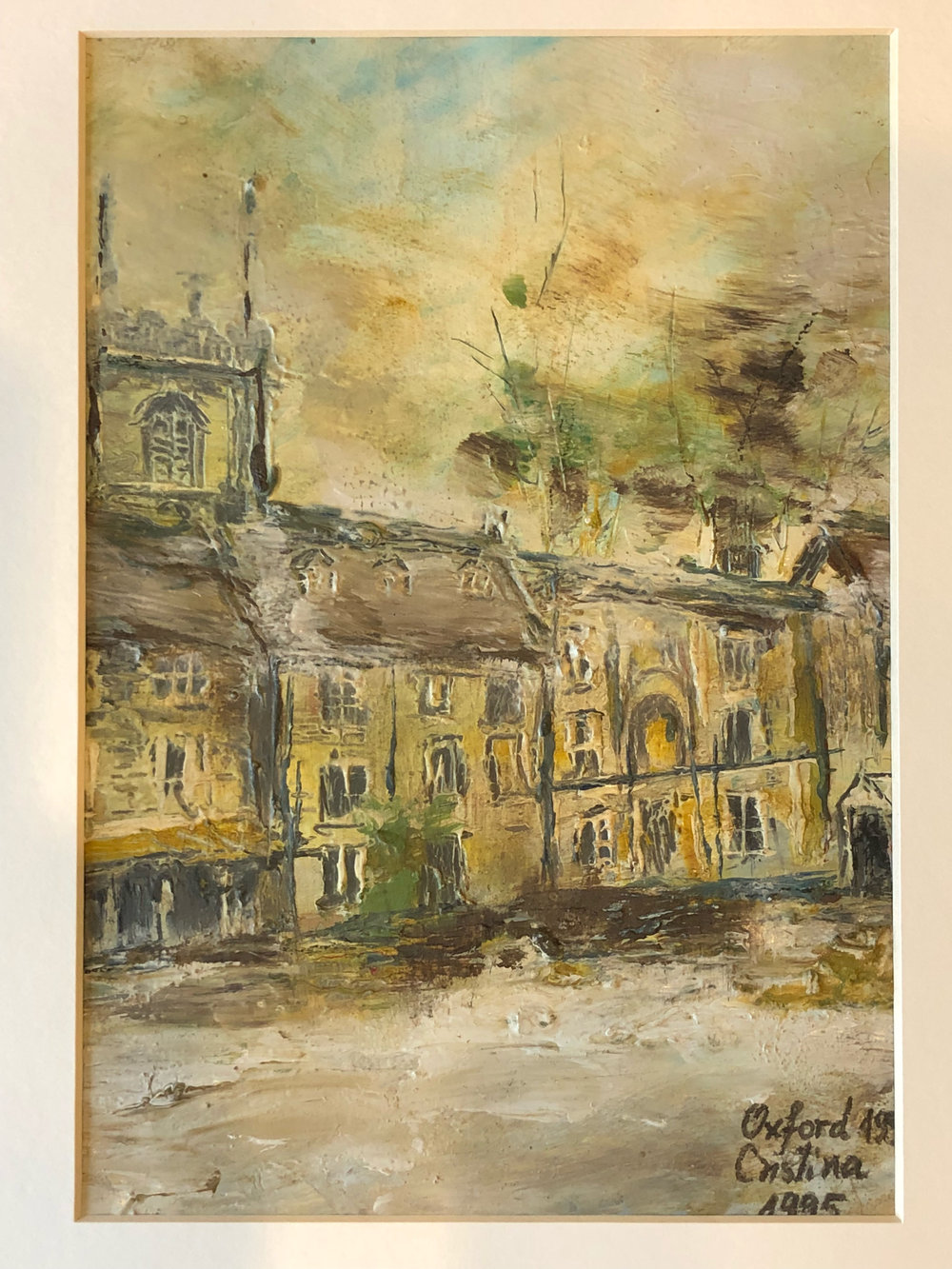 Victor's Family Talent:   This is a Painting of Oxford done by my mother after the first time she visited.