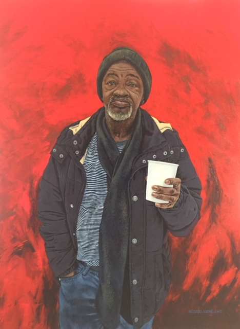 Tyrone  is one of Lewis' newest paintings highlighting the intersection of race and age.