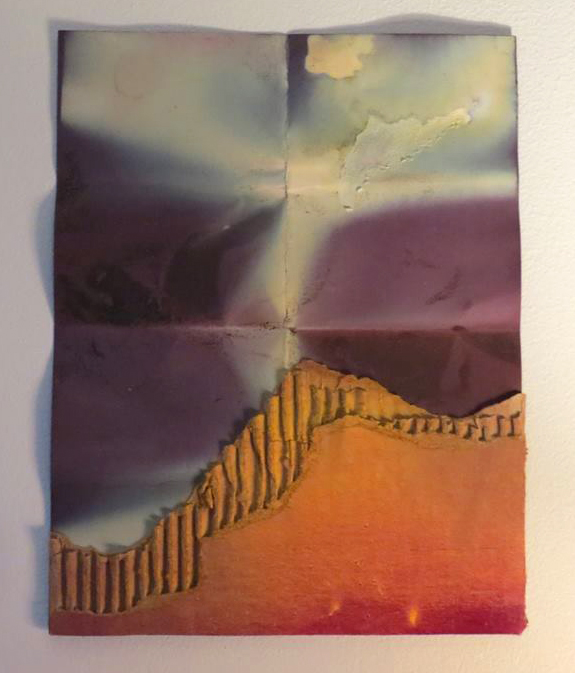 Maggie Morton,  Sublime Scraps No. 1 , dyed paper, spray paint, and cardboard, 2018. Image courtesy of Hannah Carnes.