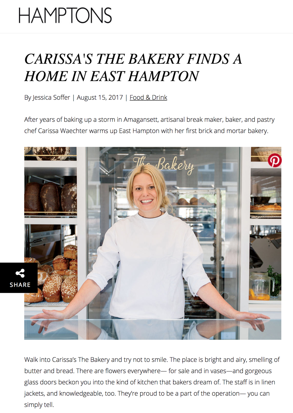 Hamptons Magazine - August 15, 2017.  Read the full story